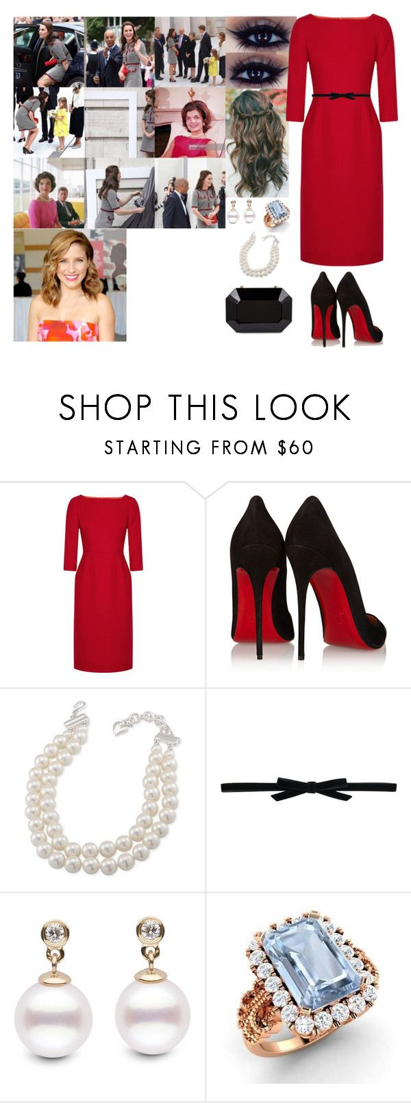 """""""Opening a New Wing at London's V&A to Open the New Exhibition Spaces"""" by adelaide-victoria ❤ liked on Polyvore featuring Goat, Christian Louboutin, Carolee, Philosophy di Lorenzo Serafini and Diamondere"""