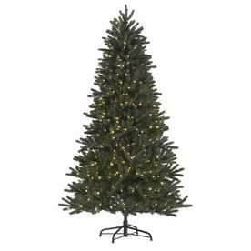 holiday living 7 5 ft englewood pine artificial christmas tree with white led lights