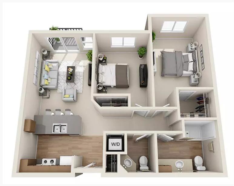 Luxury studio, 1 & 2 Bedroom Senior Apartments in Austin