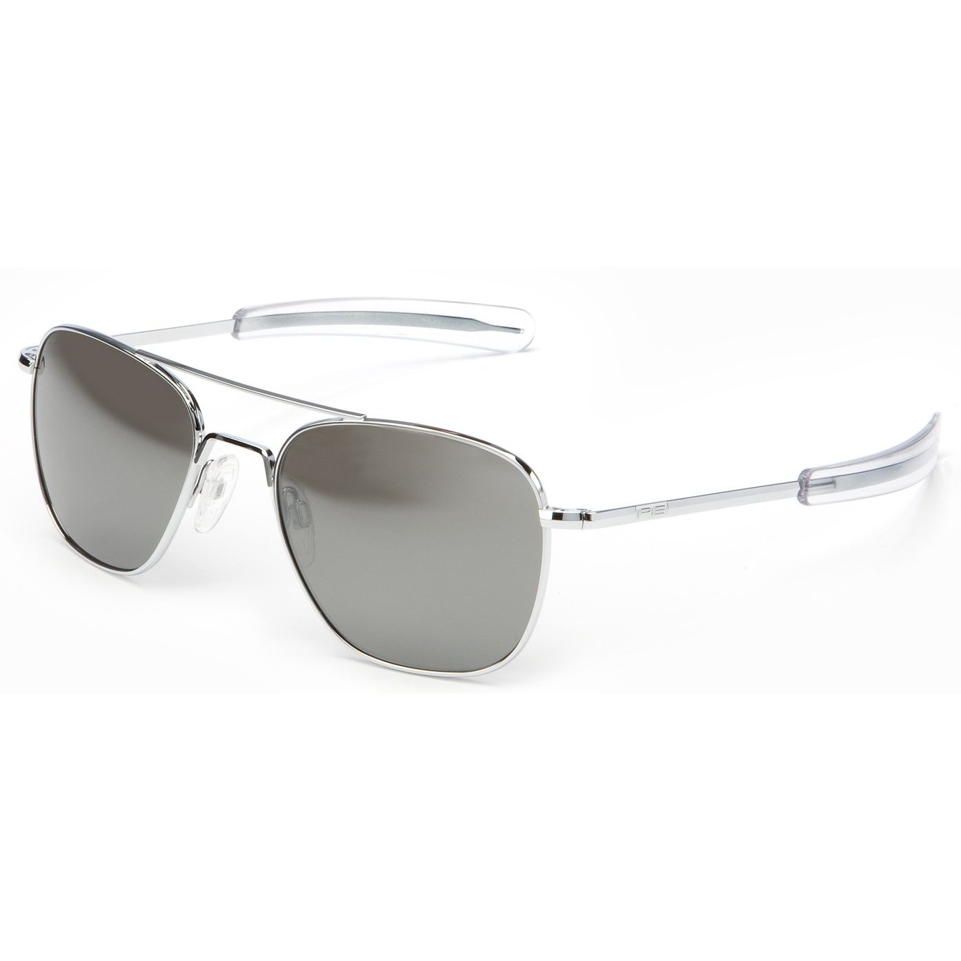 70857679c6 Randolph Aviators Bright Chrome Bayonet - Grey Mirror Lens. These Randolph  aviator sunglasses feature the popular bayonet frame in a Bright Chrome  finish ...
