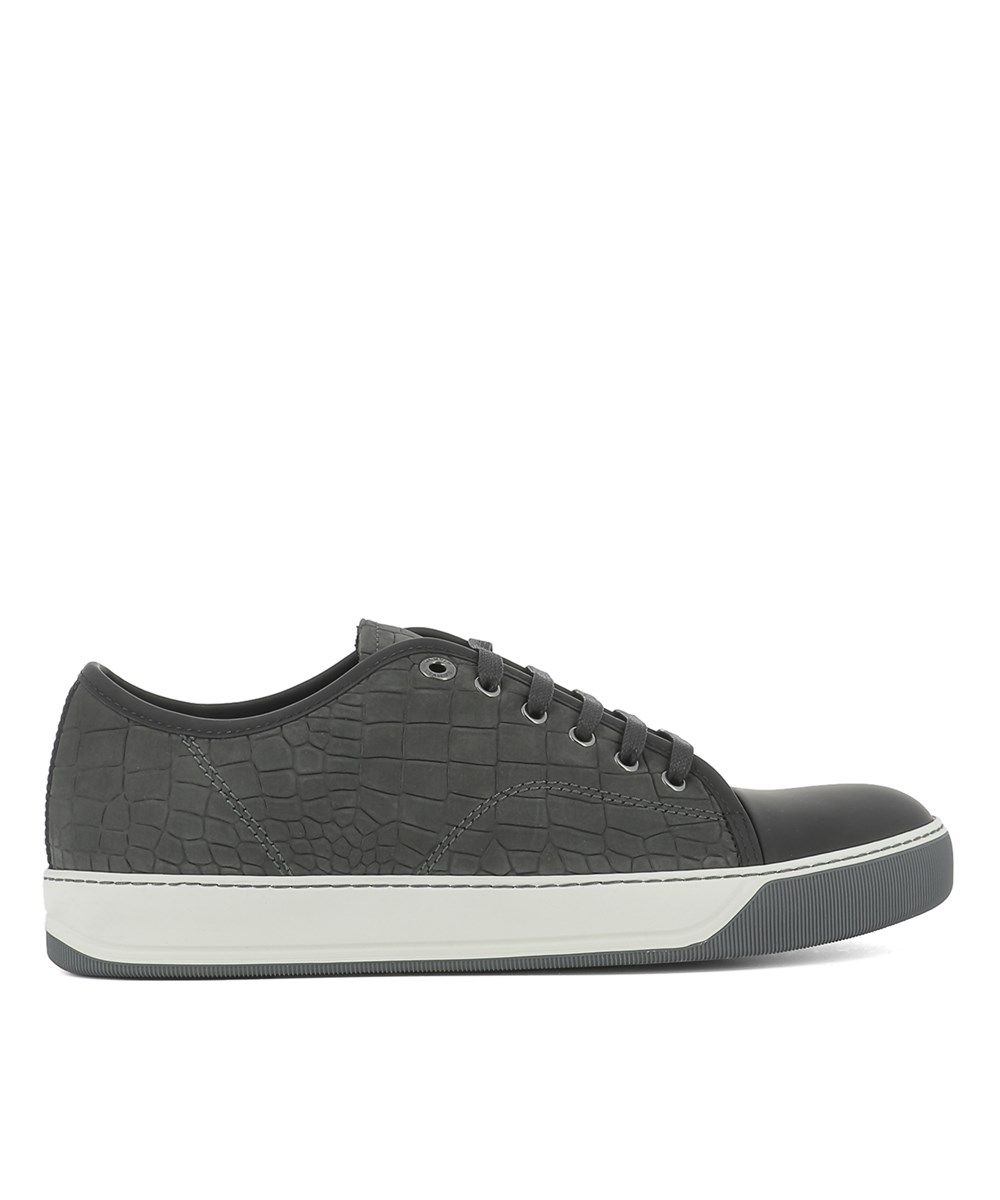 LANVIN Lanvin Men'S Grey Leather Sneakers'. #lanvin #shoes #sneakers