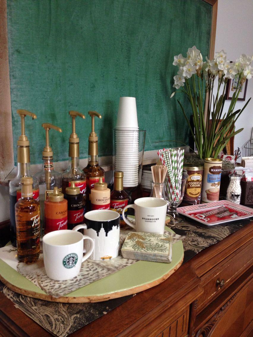 Christmas 2014. Coffee bar and hot chocolate station