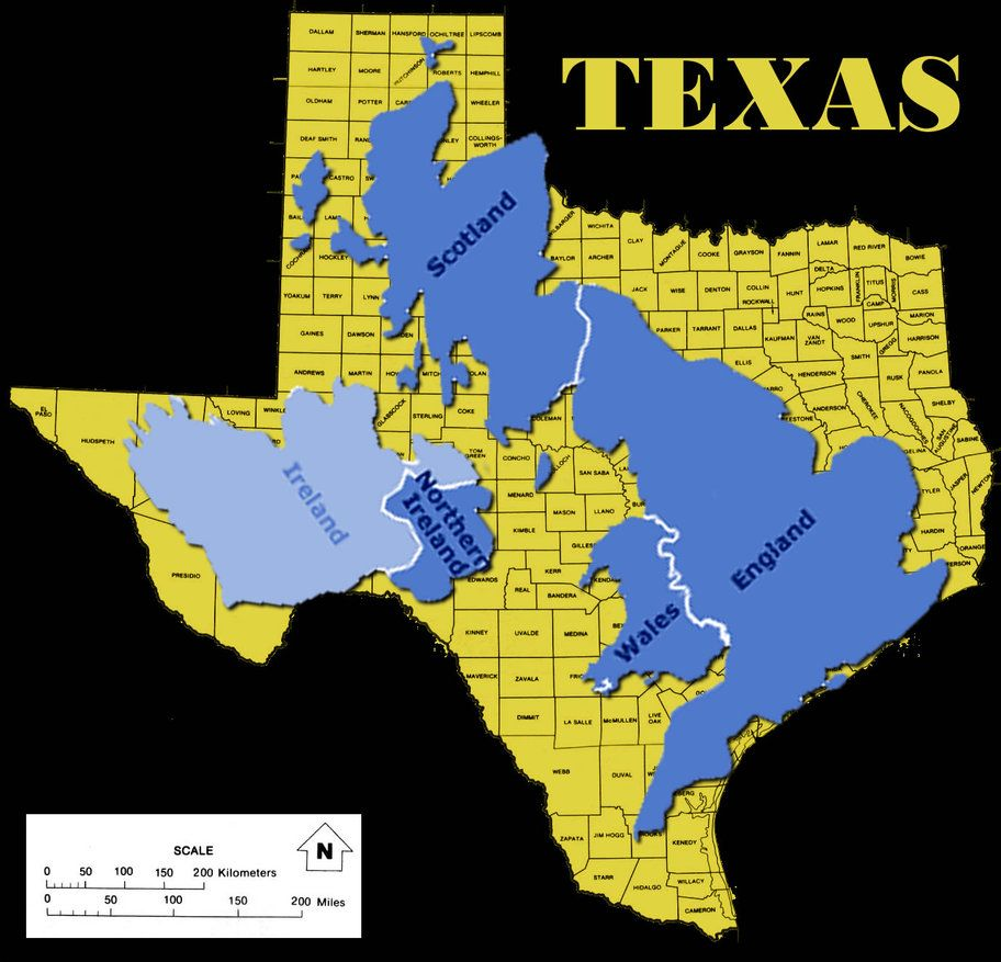 No I Didn T Look Up How Big The Uk Is Compared To America Yes I Looked Up How Big It Is Compared To Texas Because I Am Texan A Wales England
