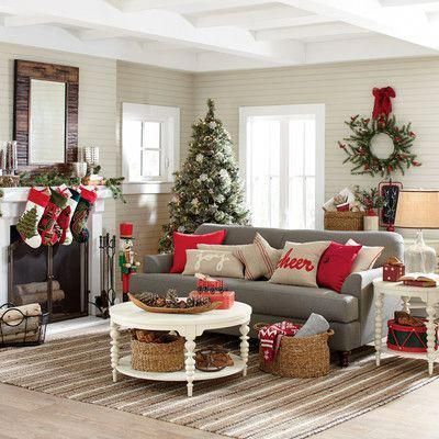 You can find the complimentary color scheme on the Christmas tree and the couch cushion #christmashome