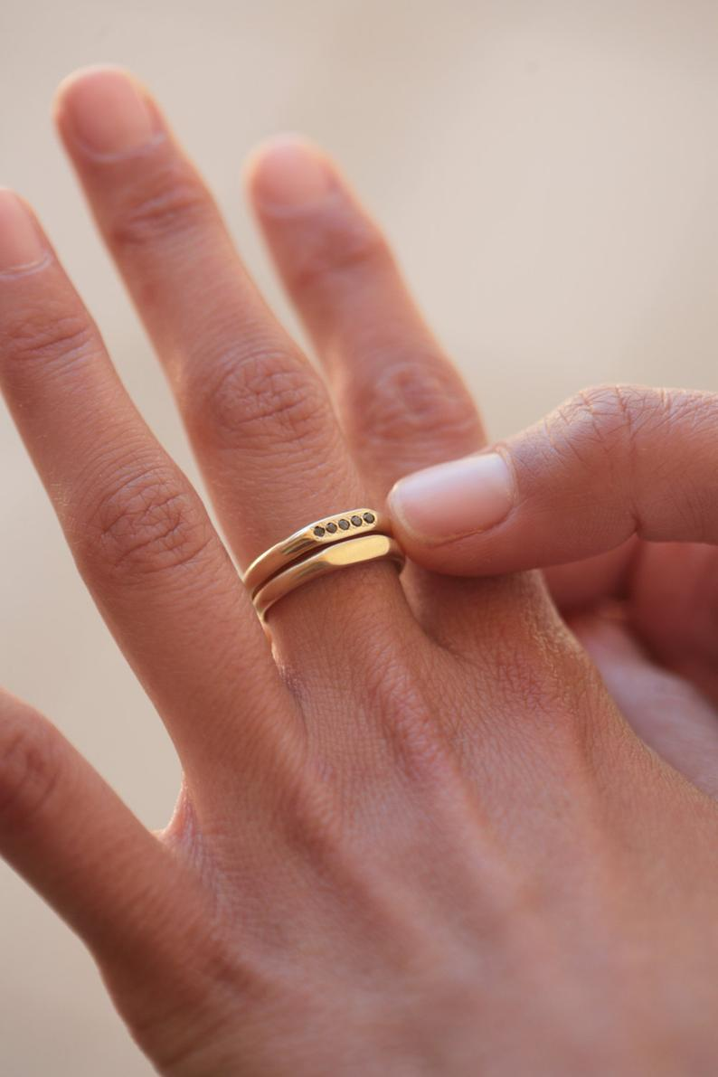 Ruby ring, ring, Gold bar ring, Unique ring for