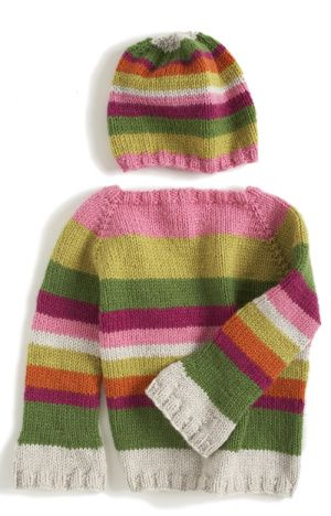 Free Knitting Pattern 80029ad Hipster Sweater And Hat Lion Brand