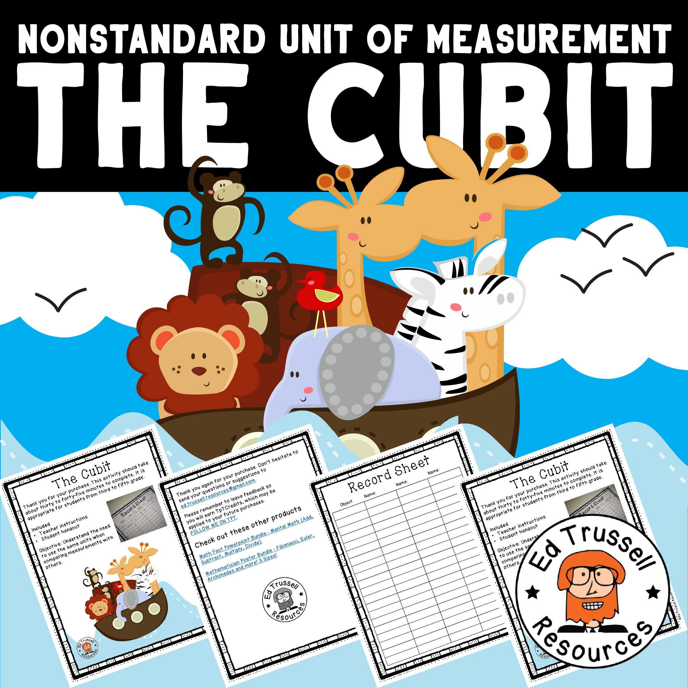 Non Standard Unit Of Measurement Project The Cubit No Prep Fun Little Project That Explores The Cubit Unit Of M Math Fact Practice The Unit Math Key Words [ 2400 x 2400 Pixel ]