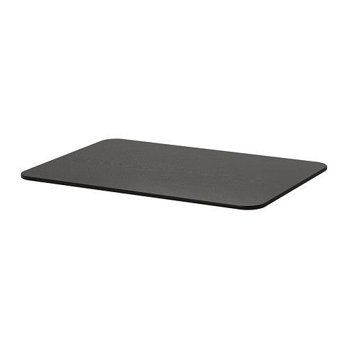 bekant plateau brun noir surface de travail plateau de table et distance. Black Bedroom Furniture Sets. Home Design Ideas
