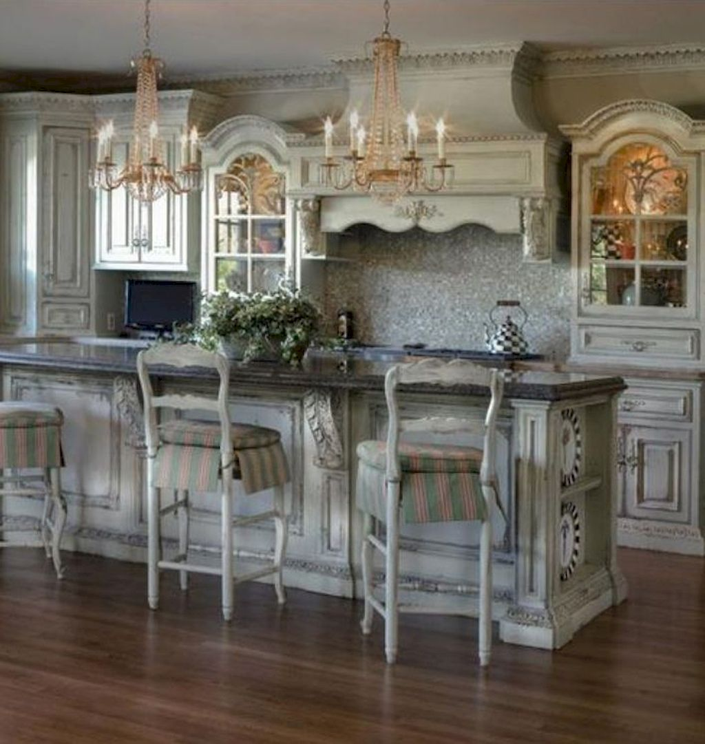 70 Beautiful French Country Kitchen Design And Decor Ideas Homekover Country Style Kitchen French Country Kitchens Country Kitchen Designs