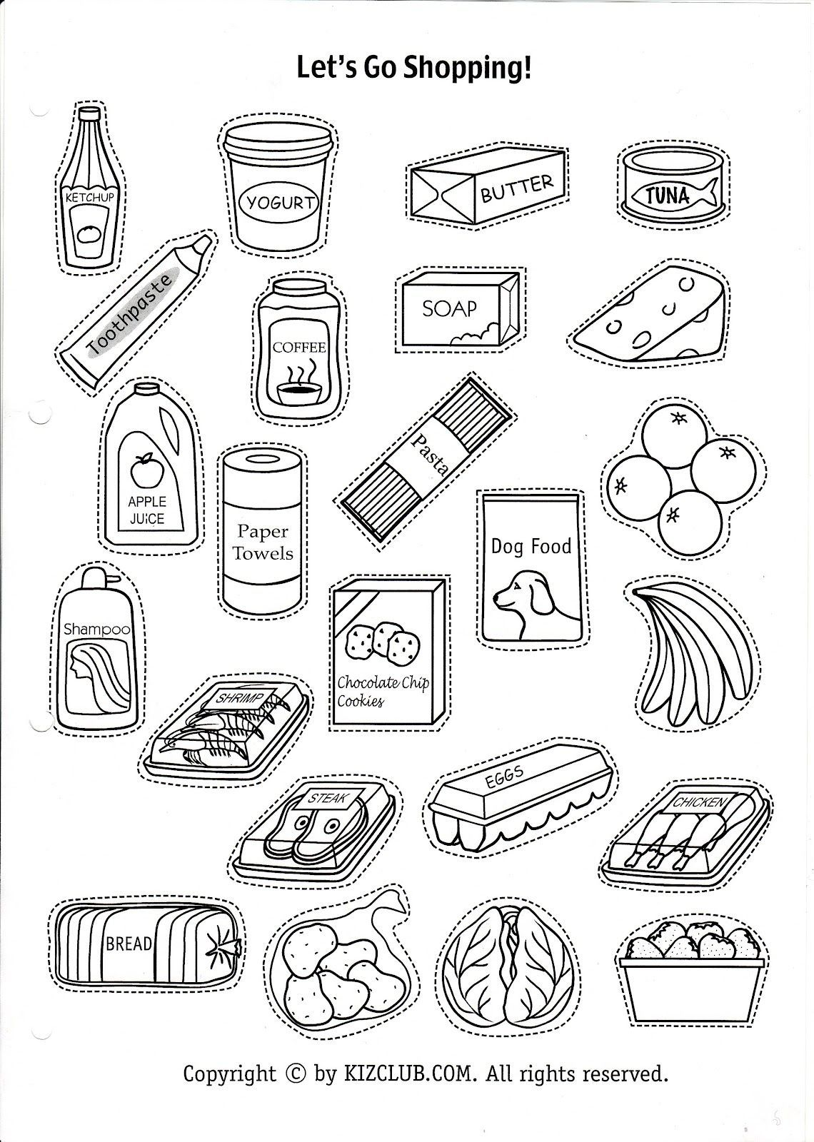 Everyday Food Icons Patchwork Set Of Common Goods And