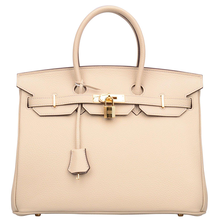 e80d1ef6b1b £120 Ainifeel Women s Genuine Leather Padlock Handbags With Gold Hardware   Handbags  Amazon.