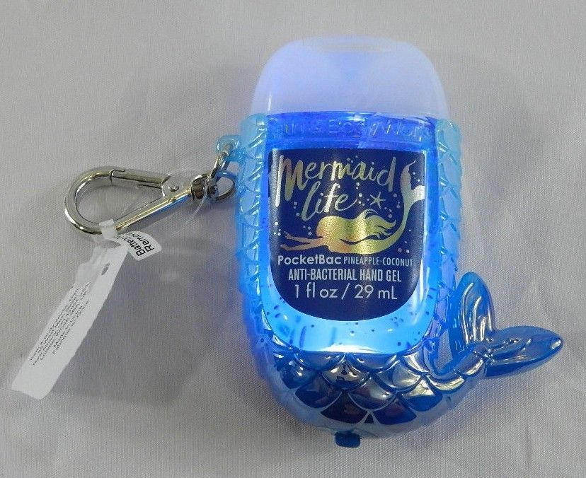 New Bath Body Works Light Up Mermaid Tail Pocketbac Hand