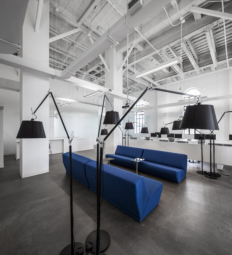 Interior Design Office Montreal: BLUE Communications, Montreal, 2012