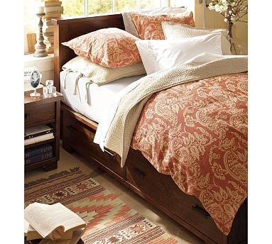 Best Sumatra Storage Bed King Cal King Mahogany Stain 400 x 300