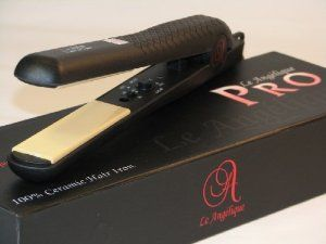 Le Angelique New Pro Select 100 Solid Ceramic Hair Straightener Black Flat Iron Review Ceramic Hair Straightener Hair Straightener Moisturizer