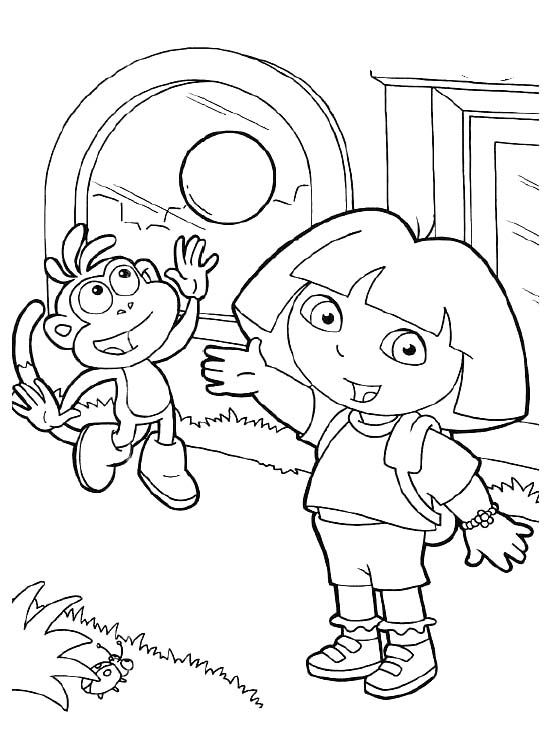Pictures Dora And Boots Coloring Pages Dora The Explorer Coloring