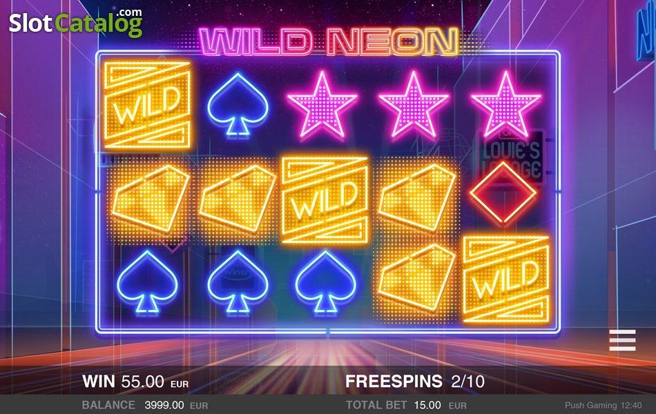 New Wild Neon Slot From Push Gaming