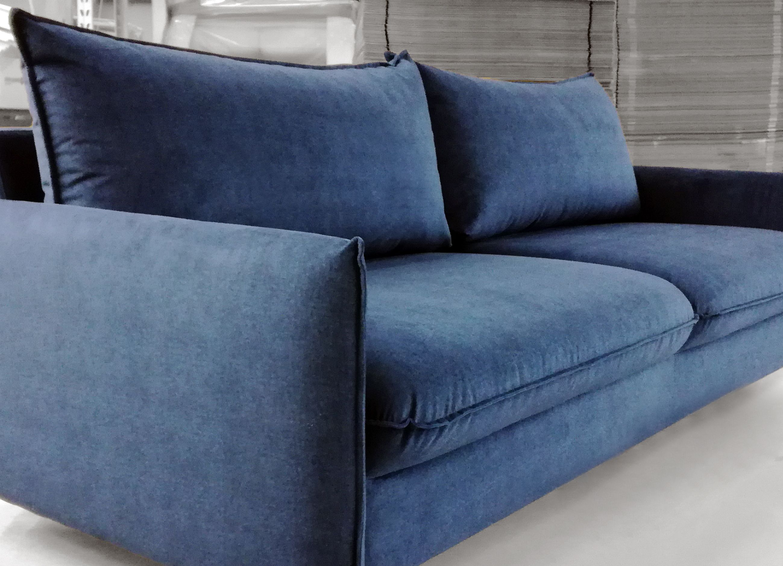 sofa inspiration contemporary sleeper perfect for with velvet blue