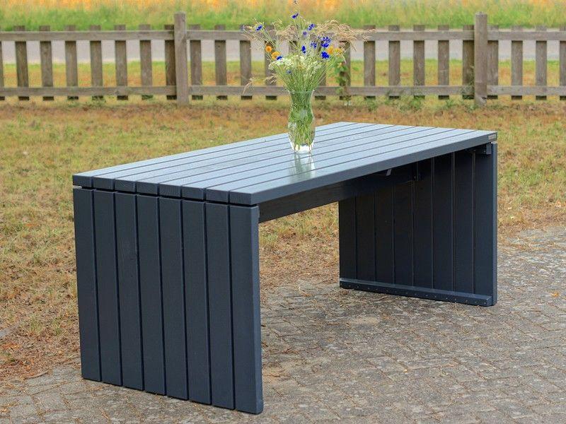Gartentisch Tisch 1 Oberflache Anthrazit Wetterfestes Holz