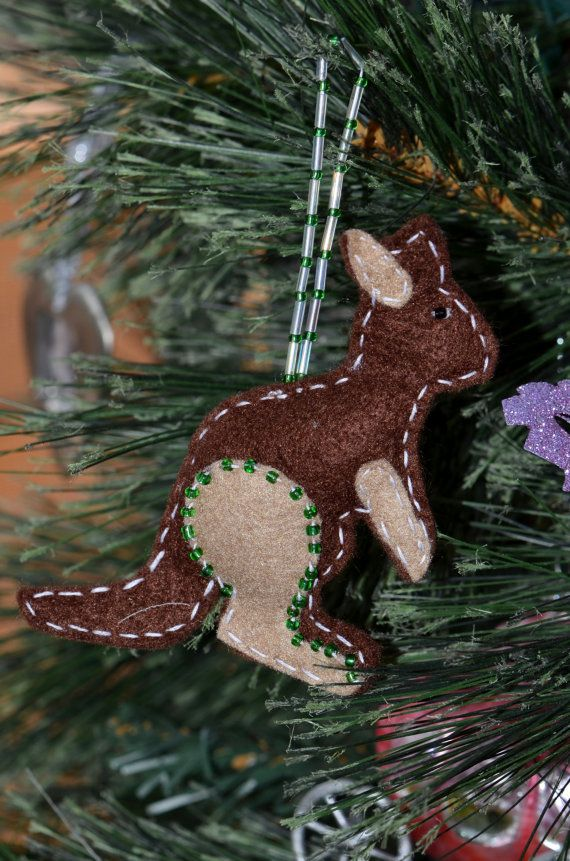 Unique Australian Christmas Decoration Kangaroo by C3Creativity
