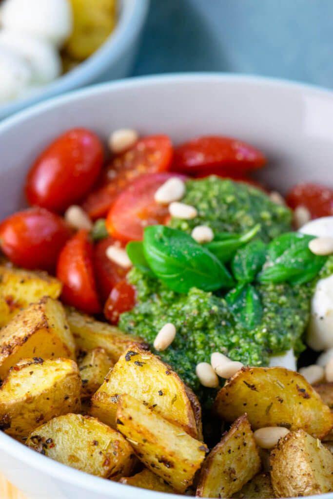 Ruck zuck fertig: Pesto Potatoe Bowl #ricecookermeals