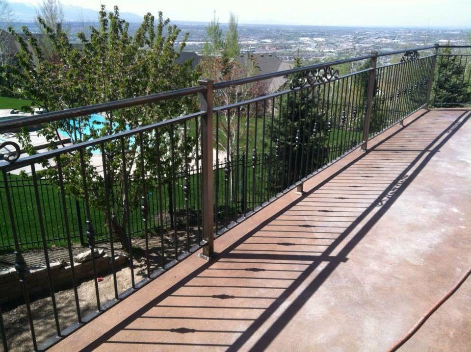 #railing custom made by A1 Custom Railing & Welding Www.A1TrailerRepairandWelding.com