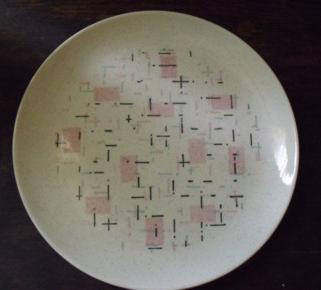 1950s Vernon Ware Tickled Pink Dinner Plate | Pink dinner ...