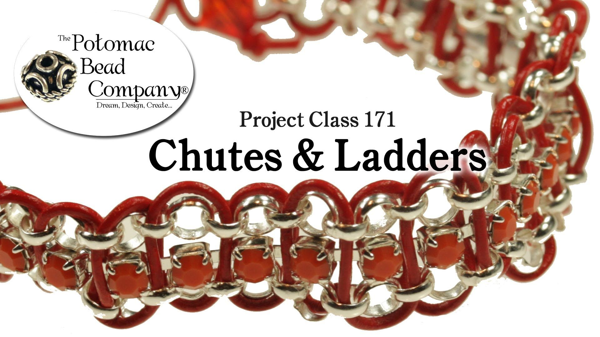 Chutes u ladders bracelet project class leather u cupchain