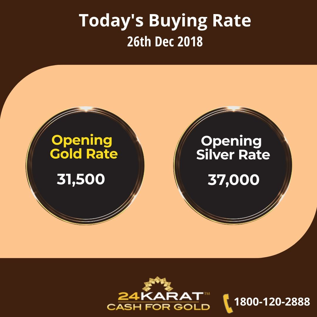 Gold And Silver Ing Rates Today 26th Dec 2018 Call Us