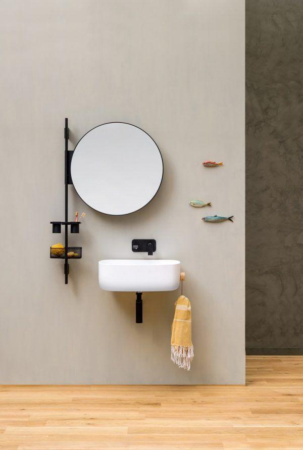 Specchio Bagno Con Mensola E Luce.Barra Attrezza Per Bagno Con Specchio Rotondo Prop Specchi Bagno
