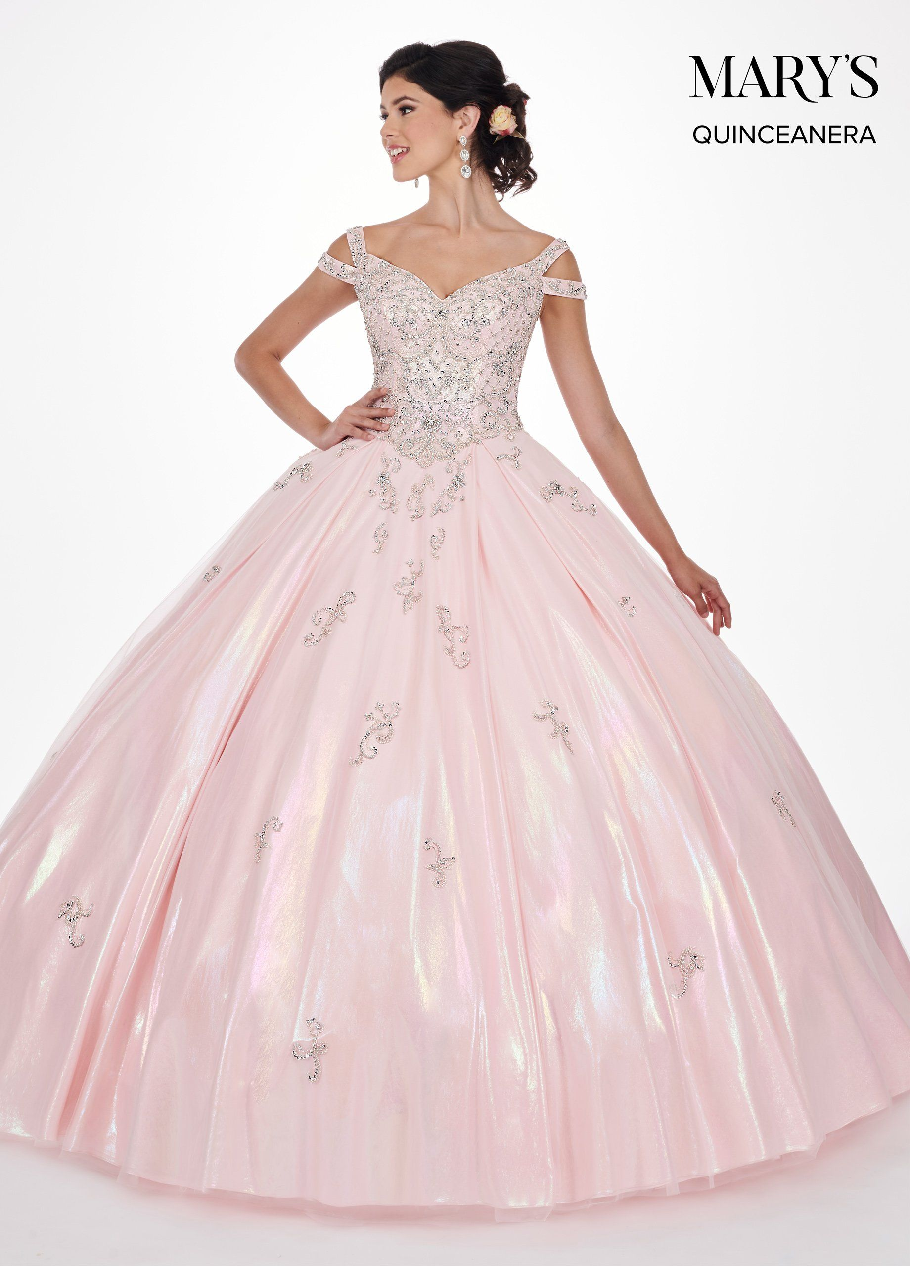 559680866ae Iridescent Off Shoulder Quinceanera Dress by Mary s Bridal MQ2070