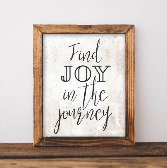 Printable Wall Art Find joy in the journey quote print