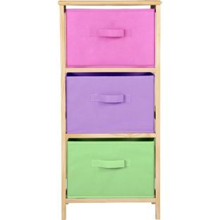 Buy 3 Drawer Canvas Storage Unit - Pink at Argos.co.uk - Your  sc 1 st  Pinterest & Buy 3 Drawer Canvas Storage Unit - Pink at Argos.co.uk - Your Online ...