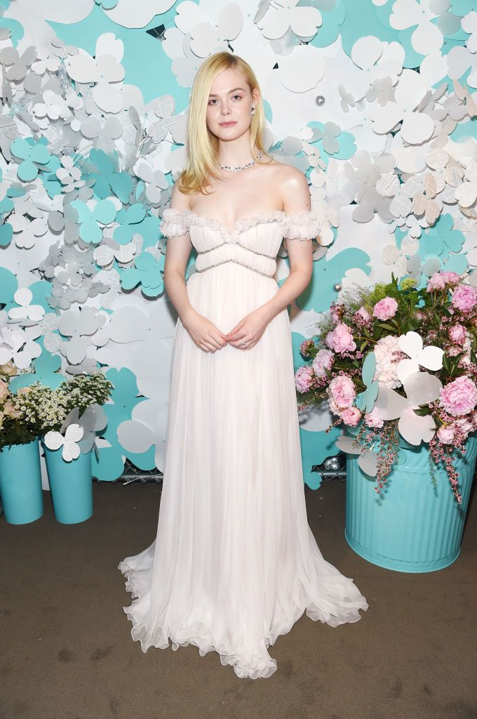 929fe83882d Elle Fanning looks radiant in Giambattista Valli Spring 2018 Haute Couture  for the Tiffany   Co. Paper Flowers Event And Believe In Dreams Campaign  Launch