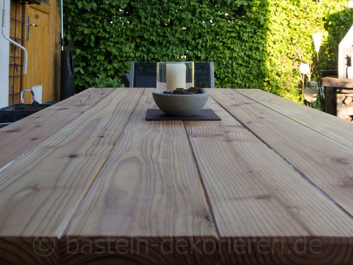 Gartentisch Aus Holz Selber Machen Bastelanleitung Wie Aus Einem Alten Glastisch Ein Neuer Diy Gartentisch Aus H Gartentisch Holz Holztisch Garten Gartentisch