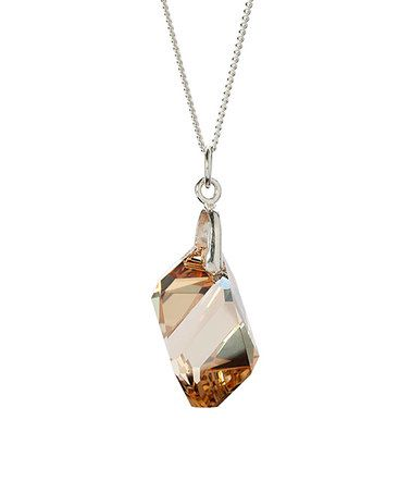 Another great find on #zulily! Champagne Swarovski® Crystal Pendant Necklace #zulilyfinds