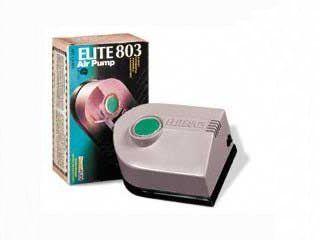 $11.55-$17.99 Hagen Elite 803 Air Pump - 110 V Features:1 outlet3500 cm/minute4.0 P.S.I.4.0 Watts/hourRecommended Aquarium 20 gal1 extra diaphragm