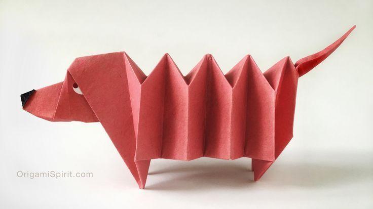 Photo of Origami-Tutorial und Video-Anleitung zur Herstellung eines Origami-Dackels – DIY Papier Blog #origamianleitungen