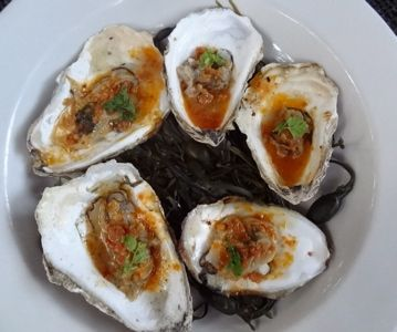 Grilled Katama Bay oysters @ Sweet Life Cafe #oakbluffs http://pointbrealty.com/marthas-vineyard-real-estate/?p=15729