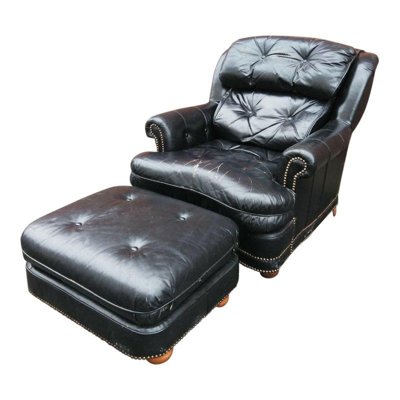Remarkable Vintage Leathercraft Chair And Ottoman Products Dining Cjindustries Chair Design For Home Cjindustriesco