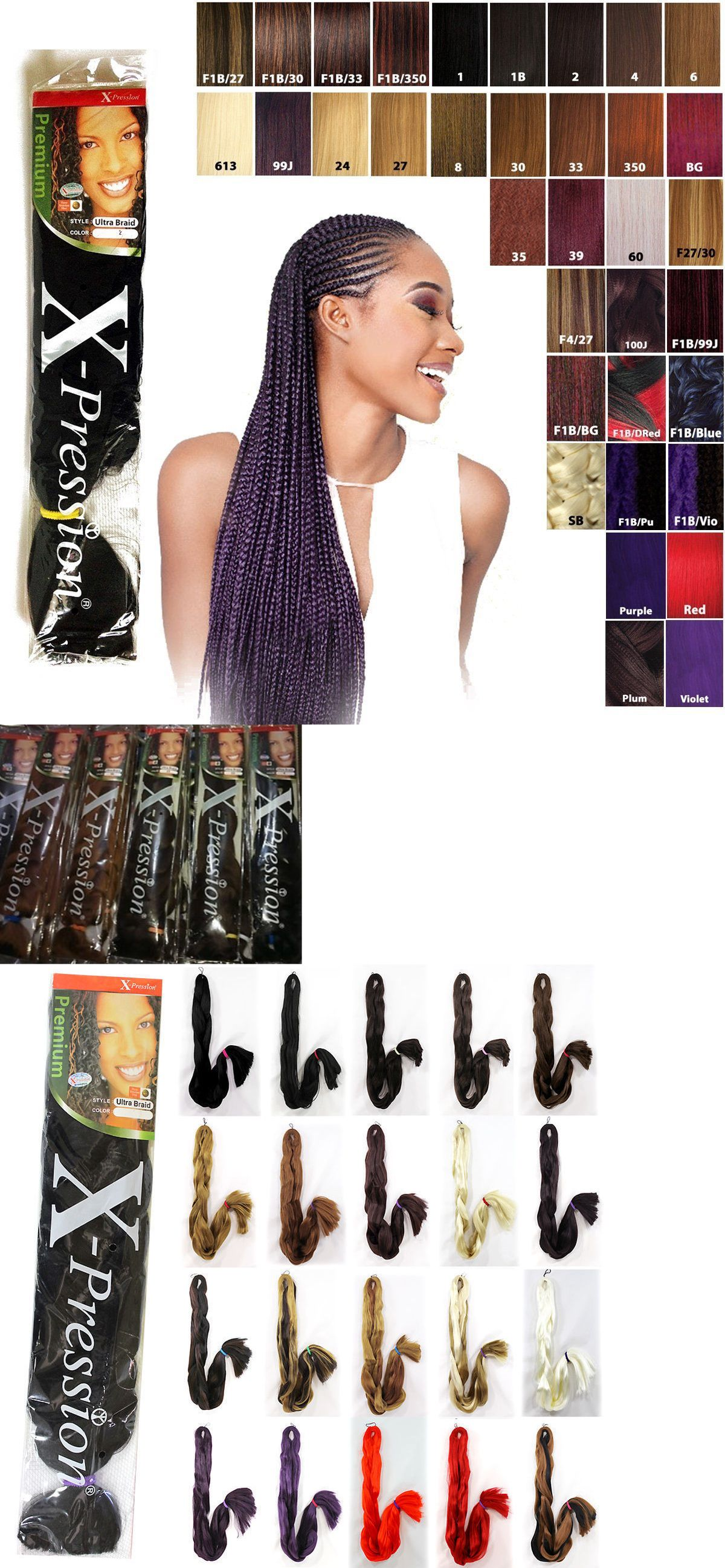 5 Packs X Pression Xpression Expression 82 Ultra Braid Hair 2 3 Day