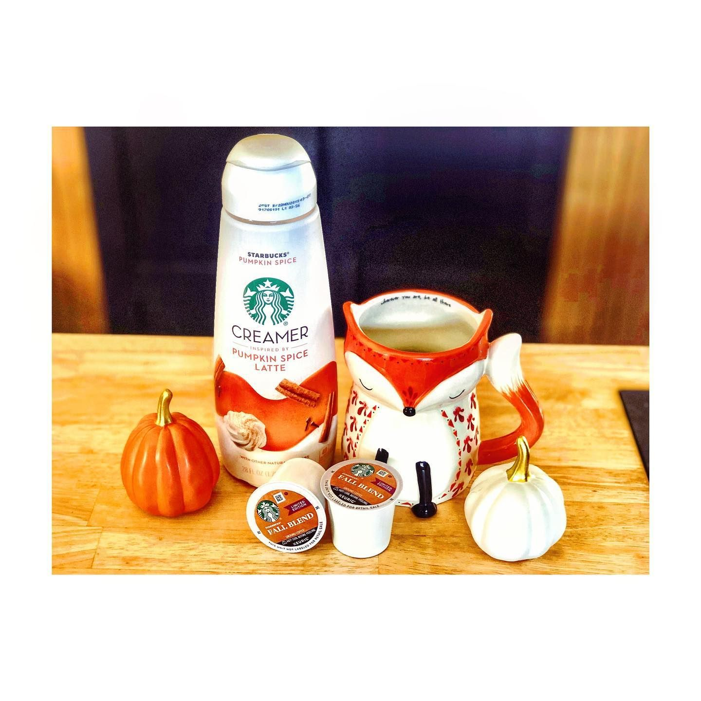 S U N D A Y Happy National Coffee Day Ad I M Enjoying My Starbucks Fall Blend This Morning With Th In 2020 Pumpkin Spice Creamer Creamer Flavors Starbucks Fall