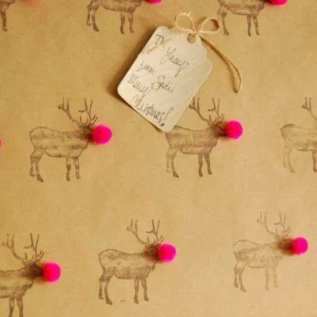 Ruldoph wrapping paper