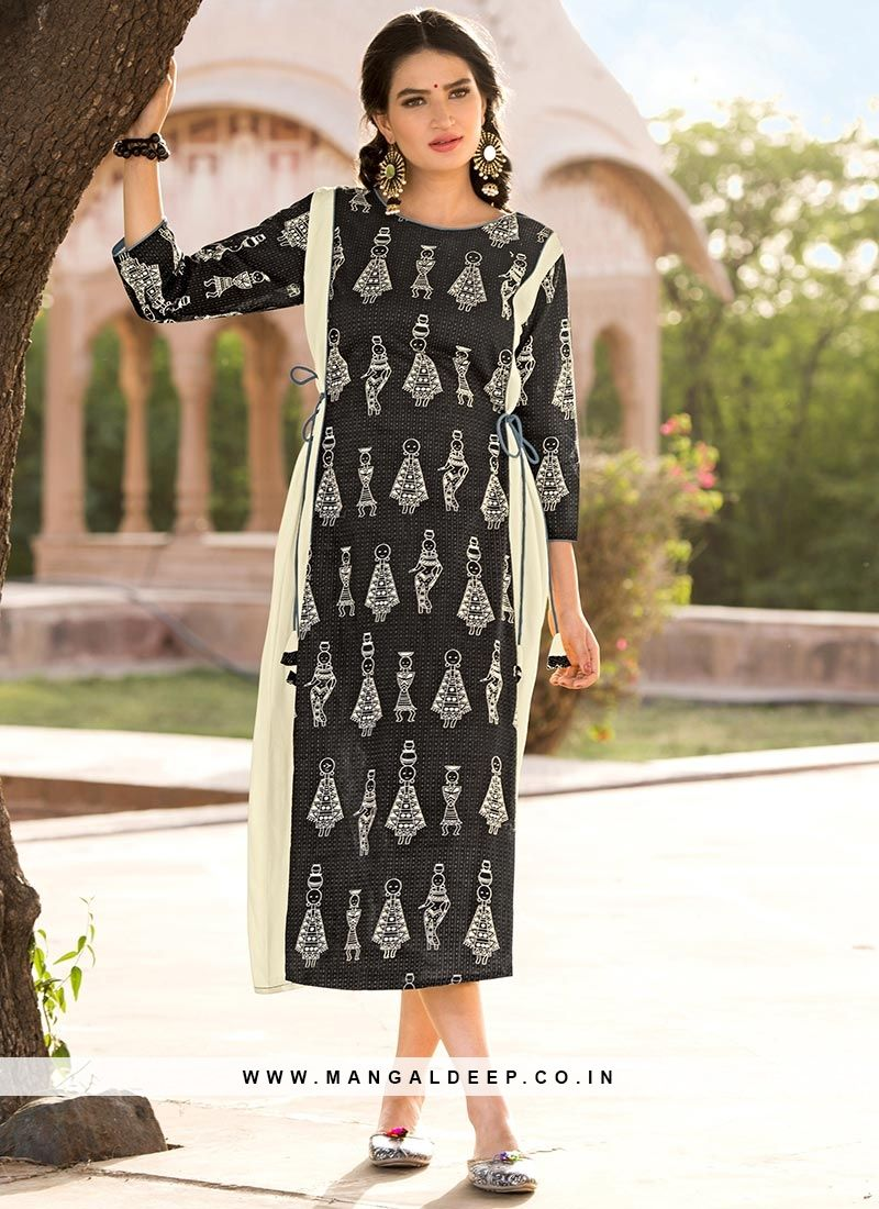 6098e77d4e Soothing Multi Color Party Wear Printed Kurti #rayon #kurti #woman ...