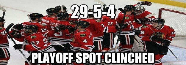 Playoffs Clinched ... Lets Go Hawks!