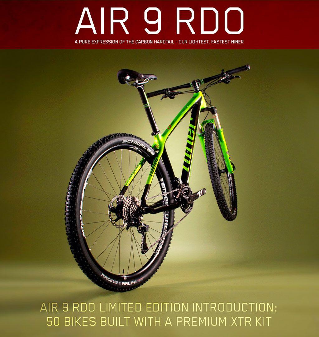 Niner Bikes Air 9 RDO. Fantastic black and green