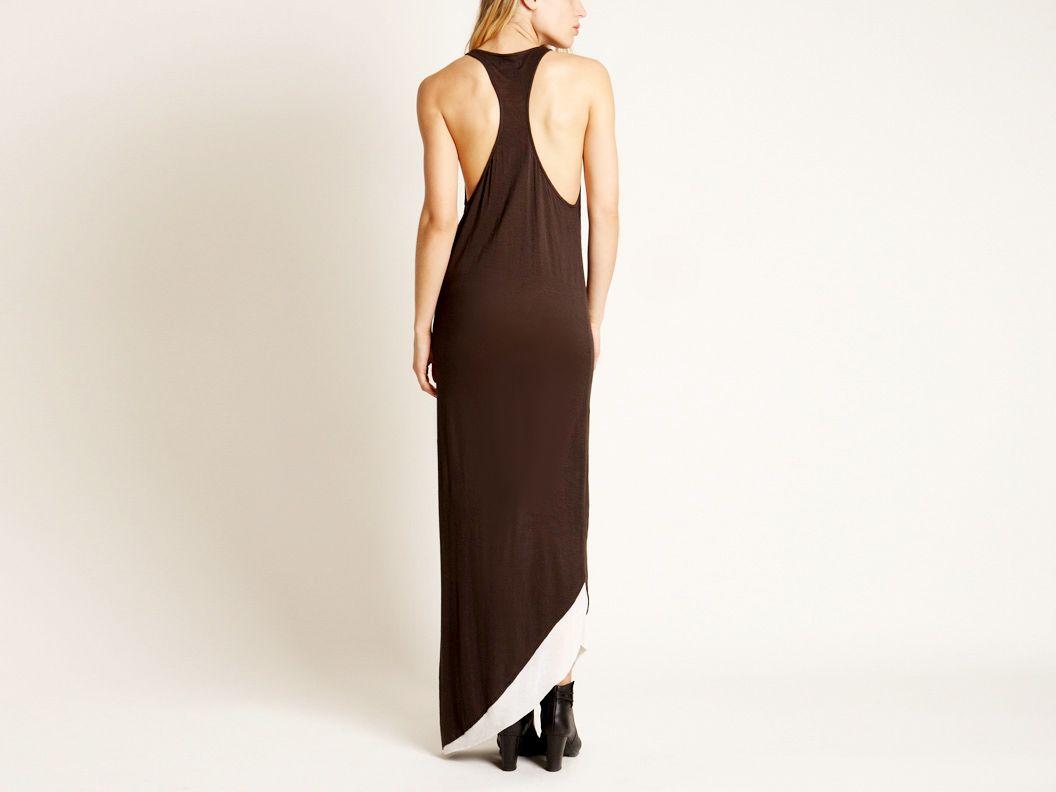 Standard Two-Tone Hem Maxi Dress by Pency Not very standard great look