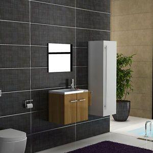 Waschbecken mit Unterschrank & Spiegel - Design Waschtisch ...