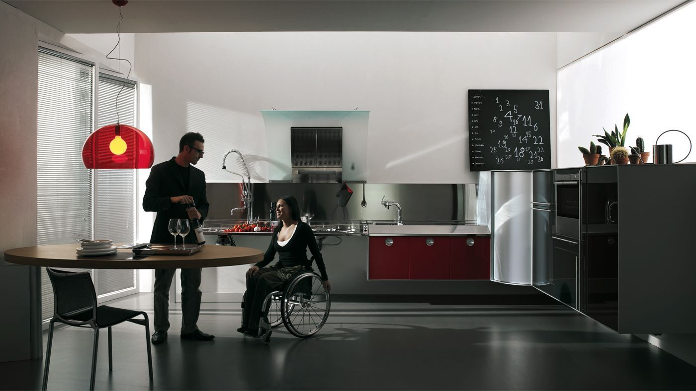 Hability Wheelchair Accessible Kitchenuniversal Design Style In 2020 Accessible Kitchen Home Kitchen Design