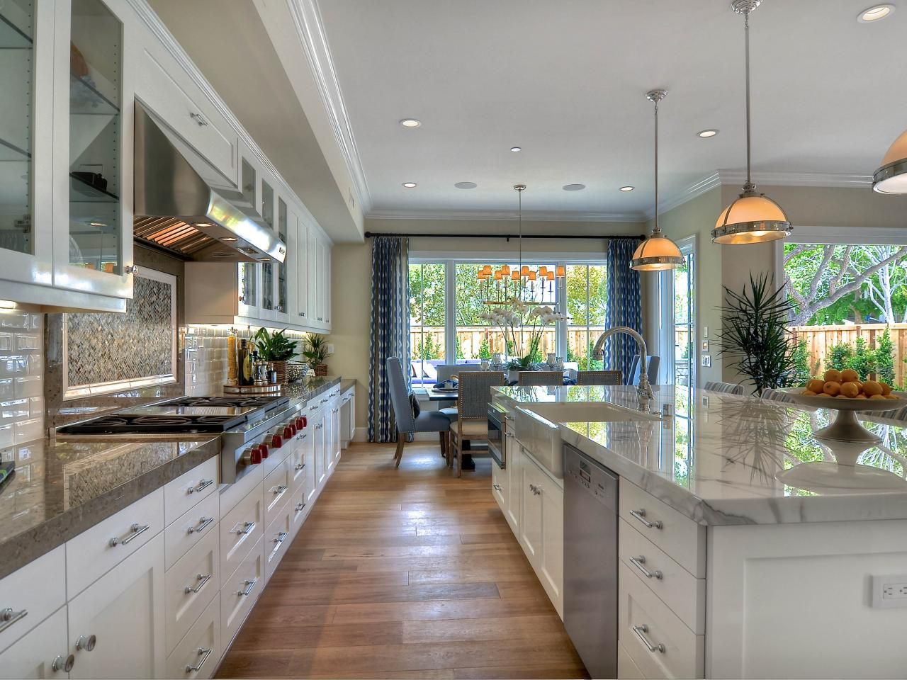 Slab kitchen cabinets  This beautiful white kitchen is bright and spacious Some of the